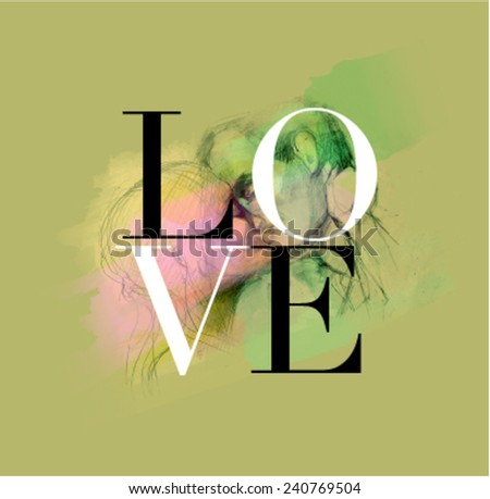 In Love with you - stock vector