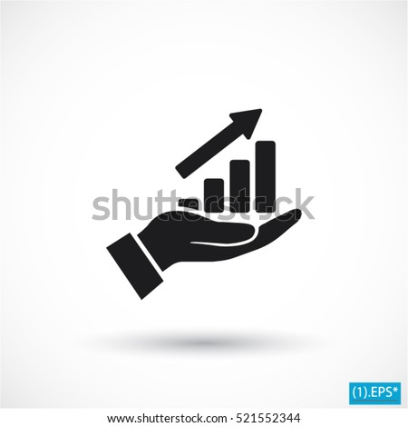 in the hands of the Infographic icon, vector . 10 EPS