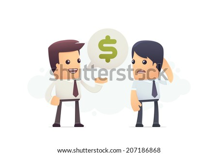 inability to pay debt. conceptual illustration - stock vector