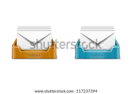 Inbox - stock vector