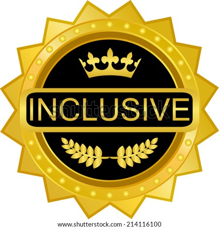 Inclusive Gold Badge - stock vector