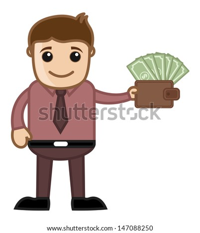Income Growth - Affiliates Money - Vector Illustration - stock vector