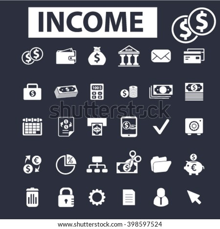 income icons  - stock vector