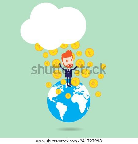 income money - stock vector