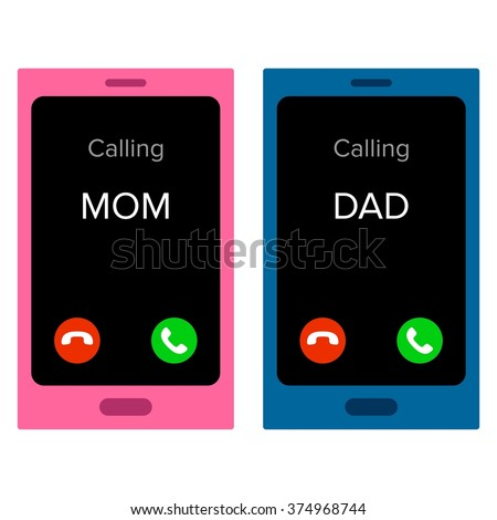 Incoming calls - stock vector