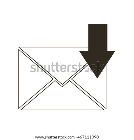Incoming email, message icon vector