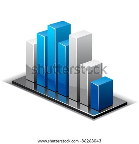 Increase diagram illustration - stock vector