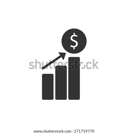 Increased revenue icon vector illustration eps10 on white background - stock vector