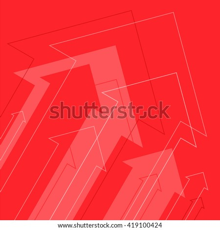 Increasing arrows abstract background. Flat vector concept illustration of growth arrows and power. - stock vector