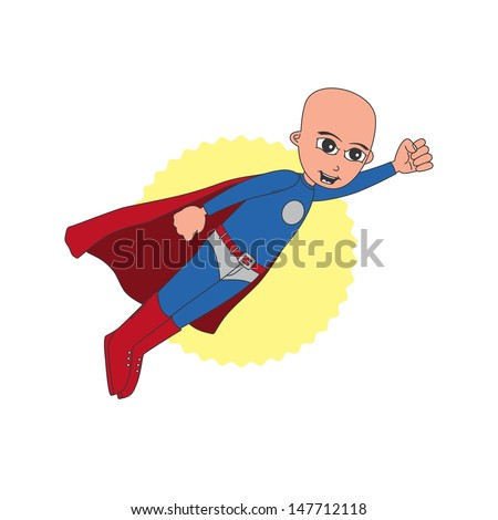incredible bald youth superhero