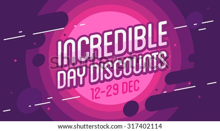 Incredible sale banner. Vector illustration - stock vector