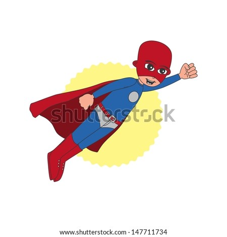 incredible superhero in red mask