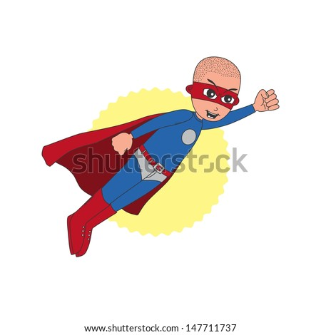 incredible young bald superhero