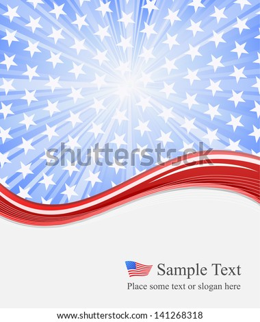 independence day american background - stock vector