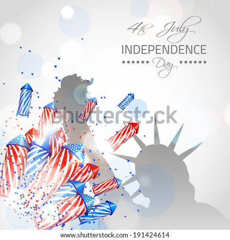 Independence Day Background - Vector with place for your text