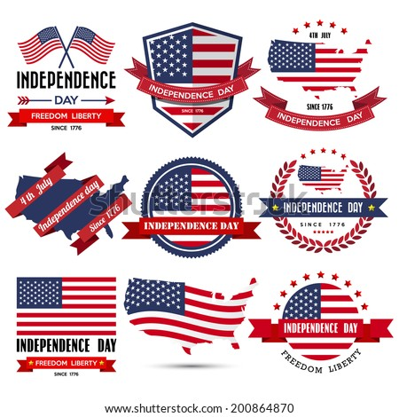 Independence day badge and label.Illustration eps10 - stock vector