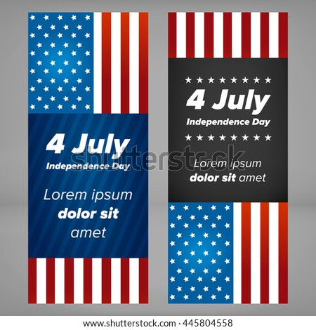 Independence day banner - stock vector