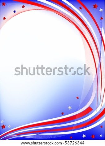 independence day card - stock vector