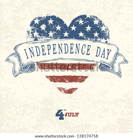 Independence day card concept. Vector - stock vector