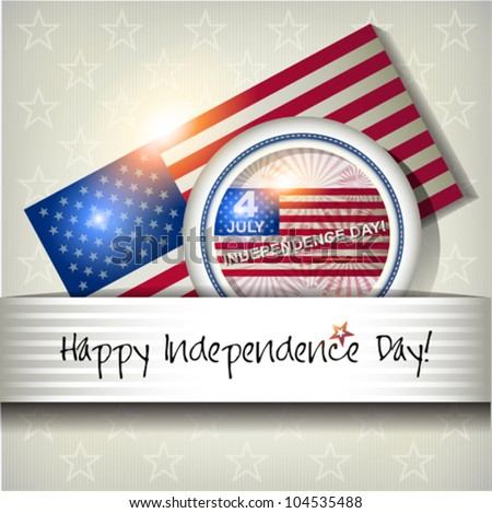 Independence Day card or background. July 4. - stock vector