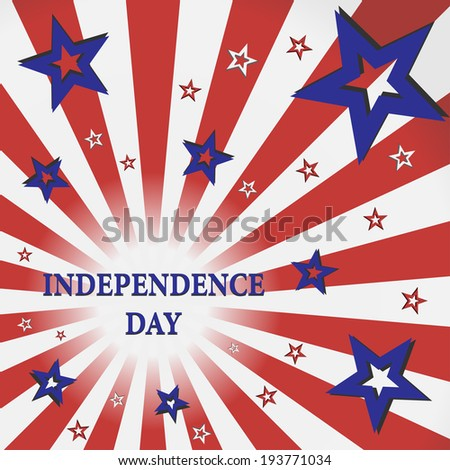 Independence day card  poster  template in vector format. Eps 10.