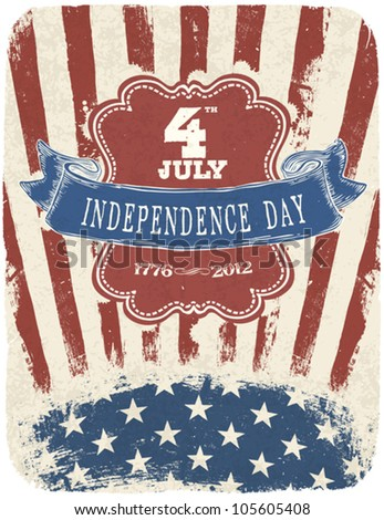 Independence Day Celebration Poster. Vector illustration, EPS 10 - stock vector