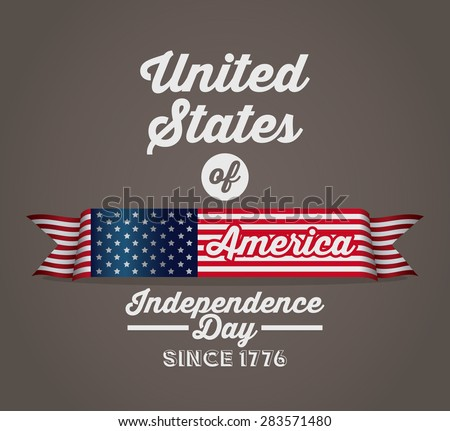 Independence day design over brown background, vector illustration - stock vector