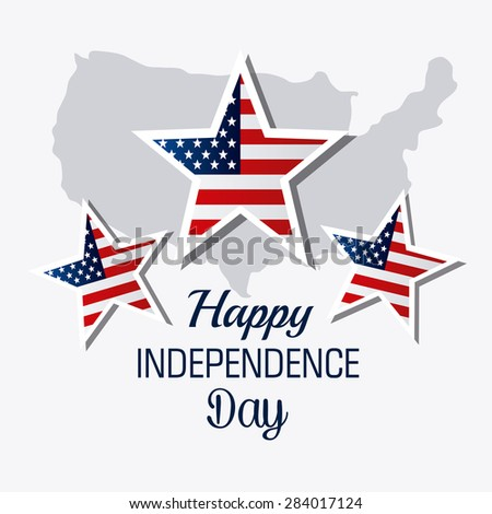 Independence day design over white background, vector illustration. - stock vector