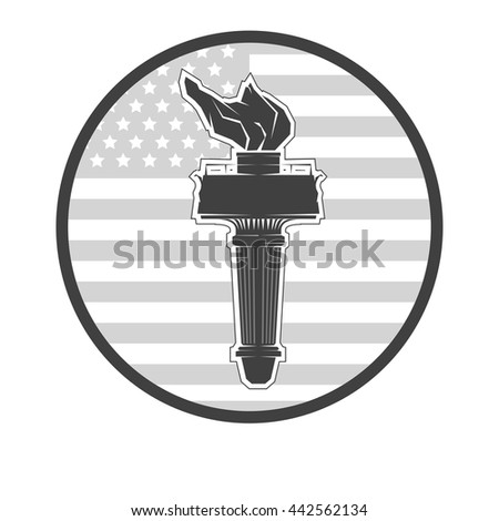Independence day emblem July fourth vector July fourth illustration July fourth day July fourth sign July fourth poster July fourth element July fourth eps July fourth torch July fourth liberty - stock vector