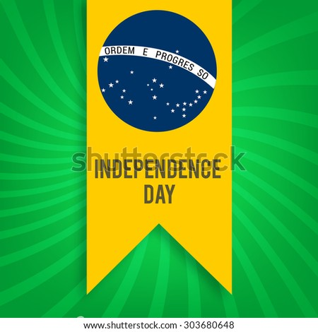 Independence Day. Flag of Brazil vector illustration. - stock vector
