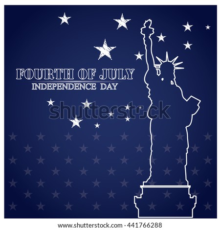 Independence day graphic design, Vector illustration