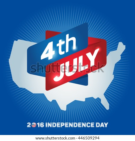 Independence Day Icon 4th Of July Map Of The United States Of America