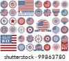 Independence Day - 4 of July - Vector set of design elements - stock vector