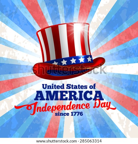 Independence day of United States of America  - festive vector background  - stock vector