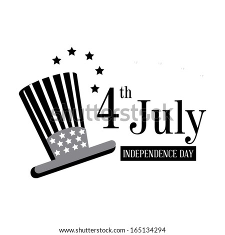 independence day over white  background vector illustration - stock vector