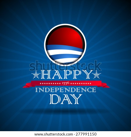 Independence day poster, retro vintage vector - stock vector