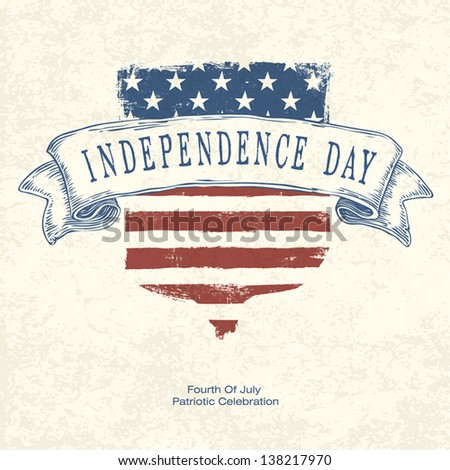 Independence day poster template. Vector - stock vector