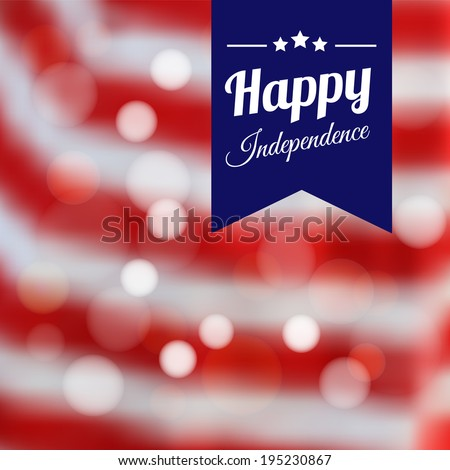 Independence day poster, vector illustration background, invitation card
