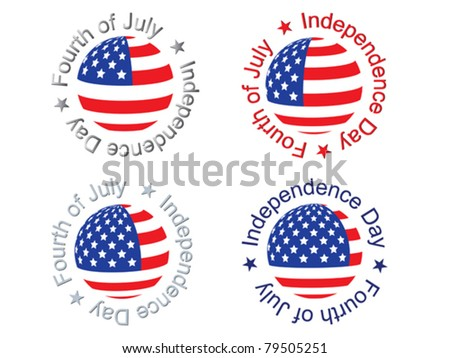 independence day signs vector illustration