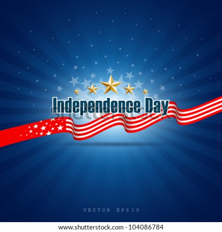 Independence day template background, vector illustration - stock vector