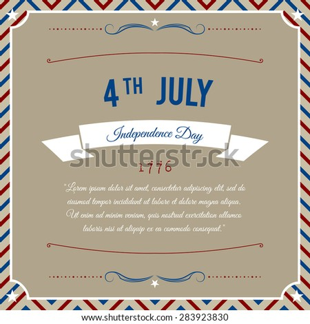 Independence Day 4-th July abstract party background. Vector - stock vector