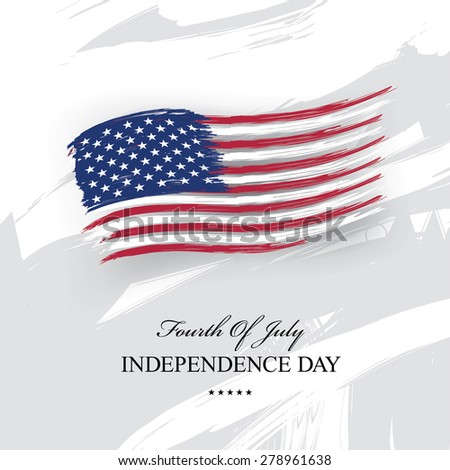 independence day 4 th july. Happy independence day! - stock vector