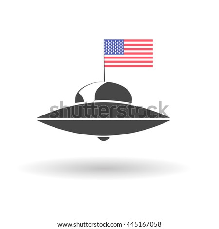 Independence day USA and Ufo - stock vector