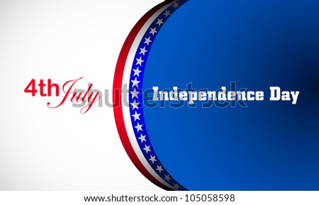 Independence Day, vector background - stock vector