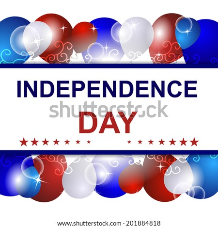 Independence day vector background with USA design/design for print, poster or creative editing