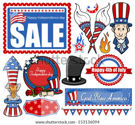 Independence Day  - Vector Designs Set - stock vector