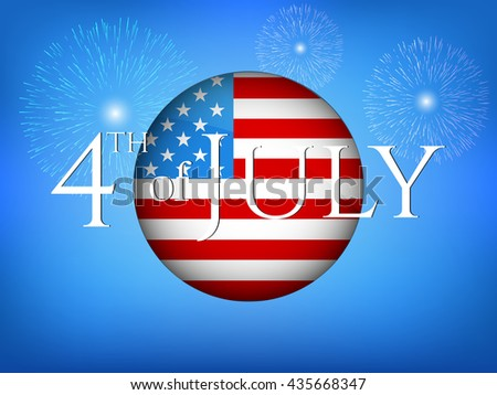 Independence Day vector illustration.4th of July vector illustration.  Web banner