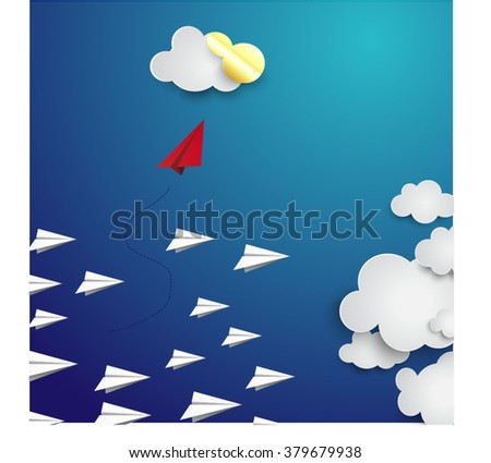 Independent thinker concept and new leadership concept or individuality. - stock vector