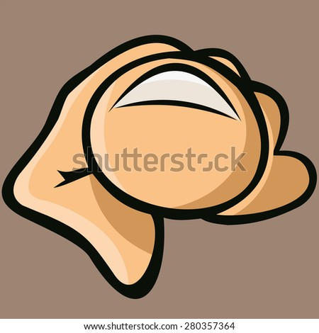 Index finger pointing at you. - stock vector