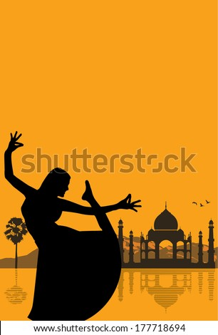 India background, vector - stock vector